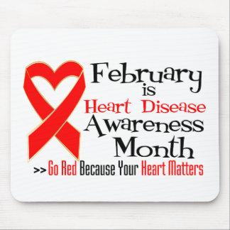 February Heart Disease Awareness Month Mousepads