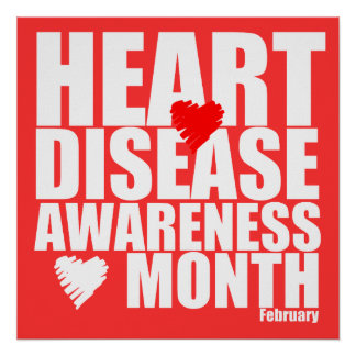 February Heart Disease Awareness Month Poster