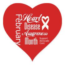 February Heart Disease Awareness Month Support Heart Sticker