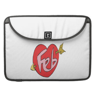 February Heart MacBook Pro Sleeves