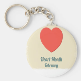 February - Heart Month - Appreciation Day Keychain