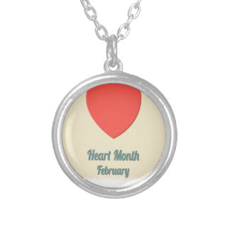 February - Heart Month - Appreciation Day Silver Plated Necklace