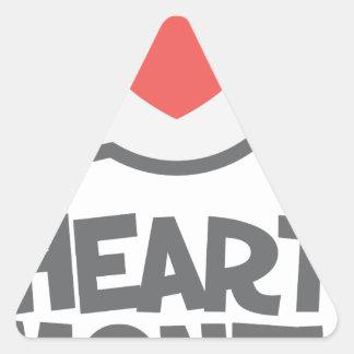 February - Heart Month - Appreciation Day Triangle Sticker