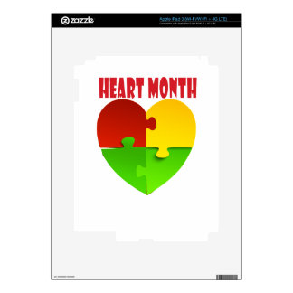 February - Heart Month iPad 3 Decal