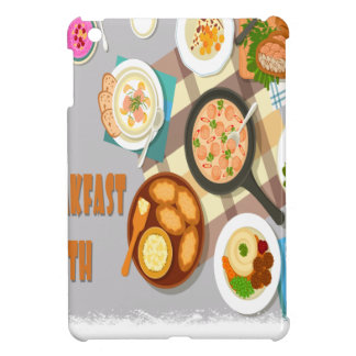 February - Hot Breakfast Month - Appreciation Day iPad Mini Cover