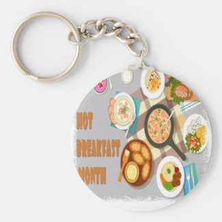 February - Hot Breakfast Month - Appreciation Day Keychain