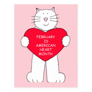 February is American Heart Month Postcard