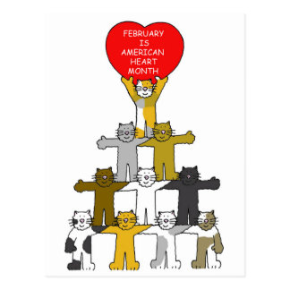 February is American Heart Month. Postcard