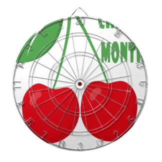 February is Cherry Month - Appreciation Day Dart Board