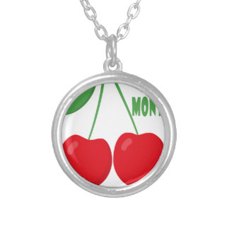 February is Cherry Month - Appreciation Day Silver Plated Necklace