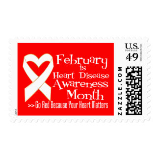 February is Heart Disease Awareness Month Postage Stamps