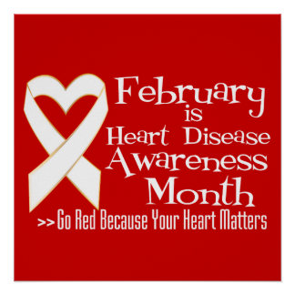 February is Heart Disease Awareness Month Posters