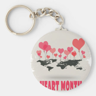 February is Heart Month - Appreciation Day Keychain