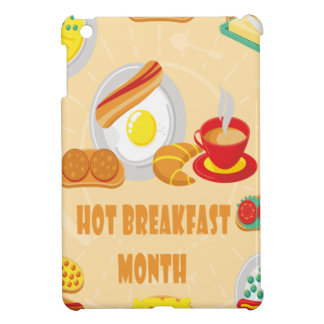 February is Hot Breakfast Month - Appreciation Day iPad Mini Case