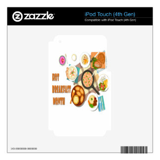 February is Hot Breakfast Month Decals For iPod Touch 4G