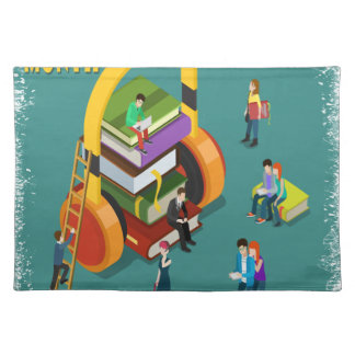 February is Library Lovers' Month Appreciation Day Cloth Placemat