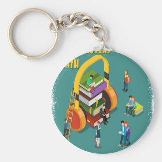 February is Library Lovers' Month Appreciation Day Keychain