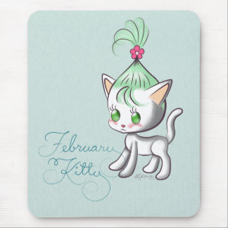 February Kitty Mouse Pad
