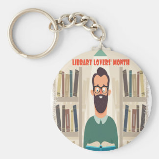 February - Library Lovers' Month Appreciation Day Keychain