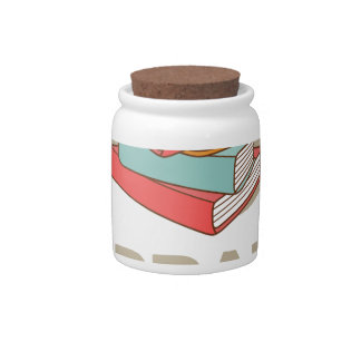February - Library Lovers' Month Candy Dish