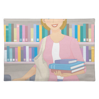February - Library Lovers' Month Cloth Placemat