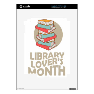February - Library Lovers' Month Decal For iPad 2