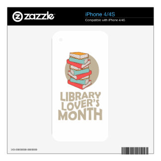 February - Library Lovers' Month Skin For iPhone 4S