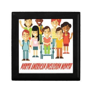 February - North American Inclusion Month Keepsake Box
