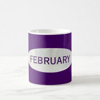 February Purple Coffee Mug by Janz