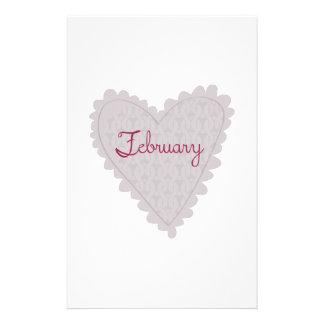 February Stationery Design