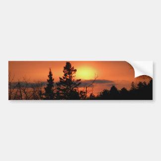 February Sunset Bumper Sticker