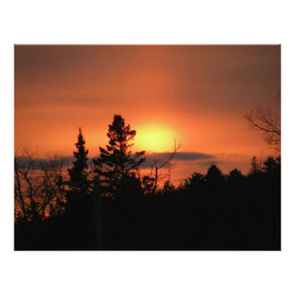 February Sunset Personalized Letterhead