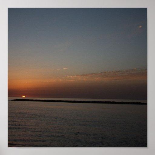 February sunset print