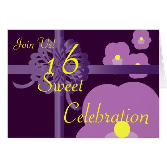 February Sweet Sixteen Invitation-Customize Card
