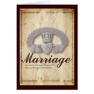 February Wedding Wishes Greeting Cards