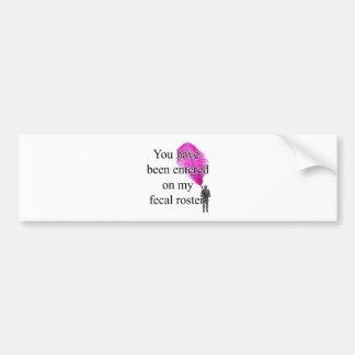 FecalRoster Bumper Sticker