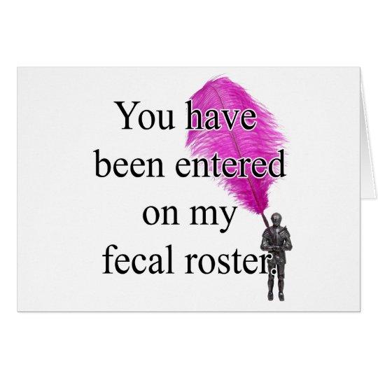 FecalRoster Card