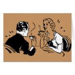 Fecha artsy del café felicitación