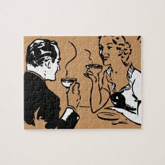 Fecha artsy del café rompecabeza