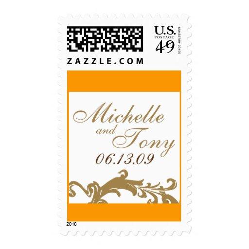 Fecha del boda timbre postal