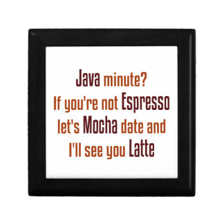 Fecha del café caja de joyas