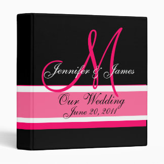 Fecha del monograma del planificador del boda y ne