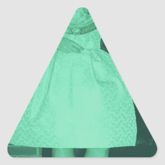 Fecha del salto colcomanias de triangulo