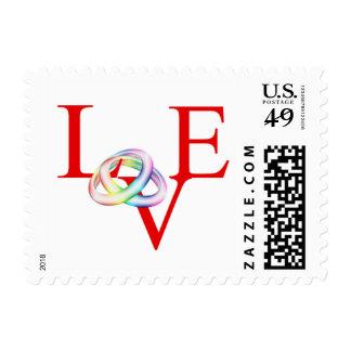 Fecha gay de la reserva de RSVP de la invitación Sello Postal