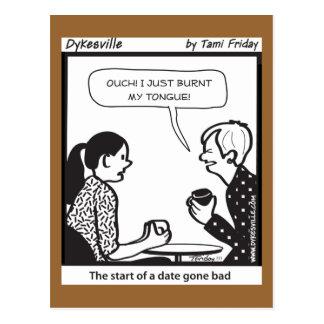 Fecha ida mala tarjetas postales