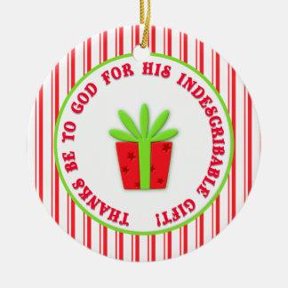 Fecha indescriptible del personalizado del navidad adorno redondo de cerámica