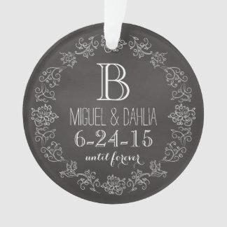 Fecha personalizada del boda del monograma de la