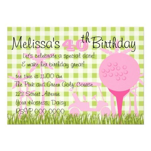 Fecha rosada del golf