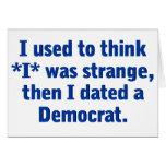 Fechando a un Demócrata (azul) Tarjeta