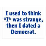 Fechando a un Demócrata (azul) Tarjeta Postal